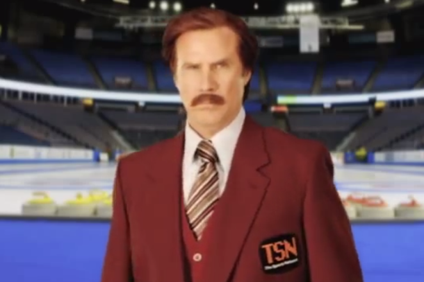 anchorman ron burgundy to call canadian curling event