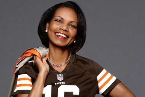 browns fan condoleeza rice