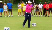 Chi Chi Rodriguez Takes Epic Nutshot While Filming Trick Shot for Golf Channel Reality Show (Video + GIF)