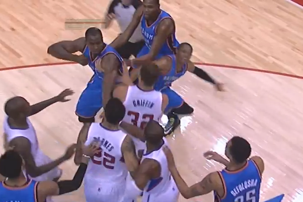 clippers thunder brawl