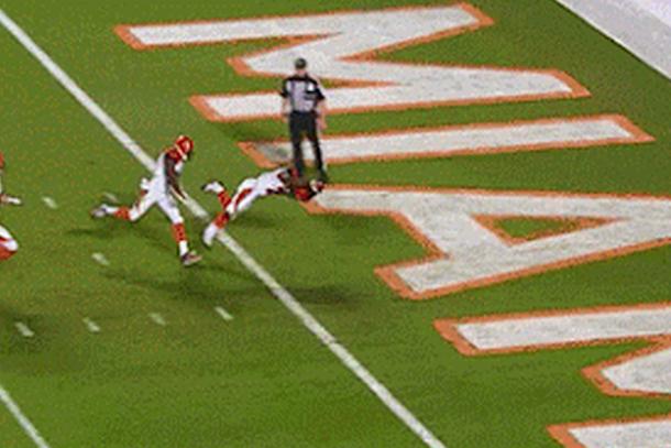 crazy gio bernard touchdown