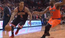 Derrick Rose Is Awesome Again, and Spike Lee Can't Believe It (Video + GIF)