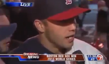 Red Sox World Series Celebration: Drunk Red Sox Fan Drops F-Bomb on Live TV (Video)