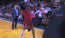 Dwyane Wade Videobombs LeBron James with Cartwheels (GIF)