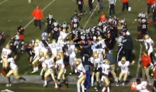 Flying Karate Kick Sets Off Massive Brawl at Community College Football Game (Video + GIF)