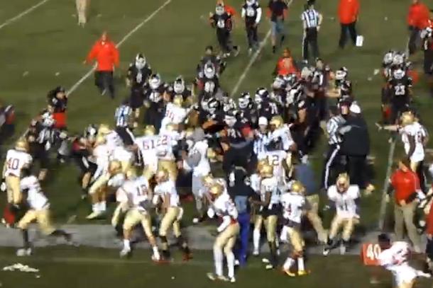 football brawl (long beach city college vs. college of the desert)