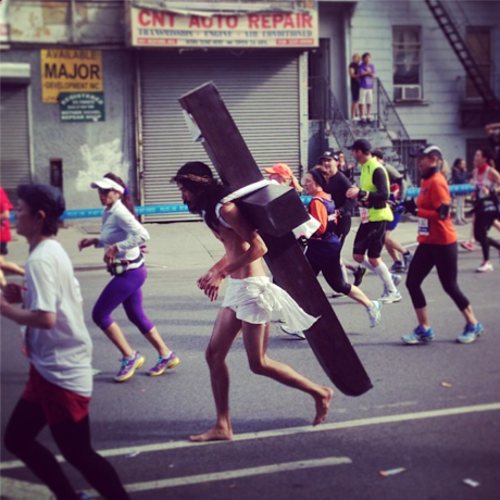 jesus new york marathon 2