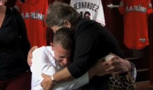 Marlins Owner Jeffrey Loria Surprised N.L. 'Rookie of the Year' Jose Fernandez by Reuniting Him with His Grandmother (Video)