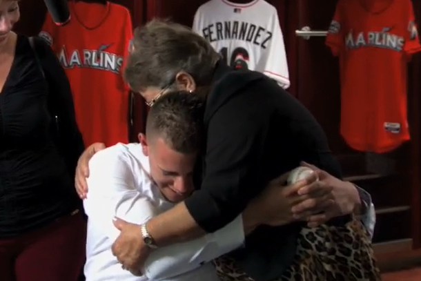 jose fernandez reunited with grandmother