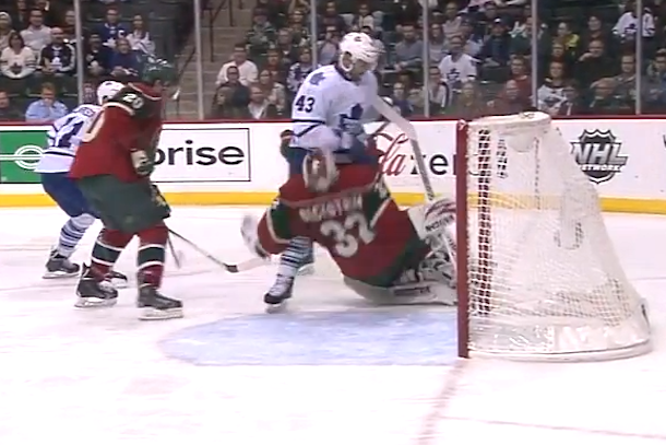 kadri runs over niklas backstrom headshot