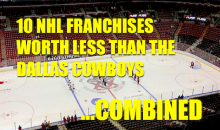 10 NHL Franchises Worth Less than the Dallas Cowboys…Combined