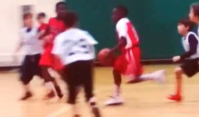 LeBron James Would Like You to Know His Son, LeBron Jr, Is Also Good at Basketball (Video)