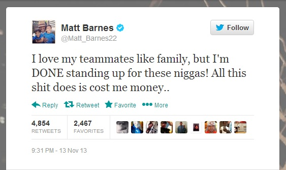 matt barnes tweet