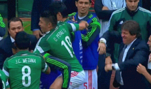 WC Qualifying: Mexico's Oribe Peralta Celebrates Goal By Riding His Teammate Like a Horse (GIF)