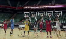 NBA Stars Wear New Sleeved Jerseys in NBA Christmas Day Ad (Video)