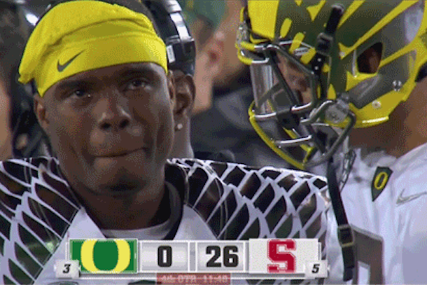 oregon sucks josh huff crying