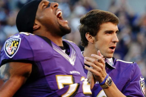 ravens fan michael phelps