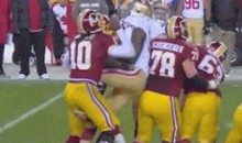 Aldon Smith Gave RGIII Quite the Nutshot Last Night (GIF)