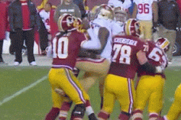 rgiii nutshot (robert griffin iii nutshot by aldon smith)