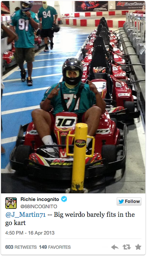 richie incognito making fun of jonathan martin
