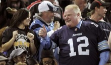Toronto Mayor Rob Ford Attends Argos Game, Gets Beer Thrown At Him (Video)