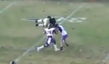 Division II Running Back Flips Over Defender, Keeps Running for 10 More Yards and First Down (Video)
