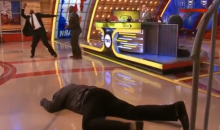 Shaq Took a Spill Last Night on the NBA on TNT Halftime Show (Video + GIF)