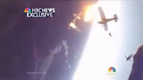 skydiving plane crash video