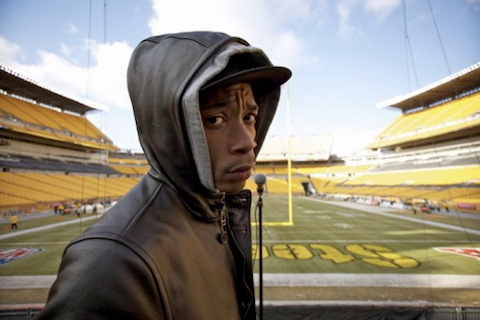steelers fan wiz khalifa at heinz field