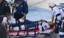 Steven Stamkos Suffers Broken Tibia After Crashing Hard Into the Post (Video + GIF)