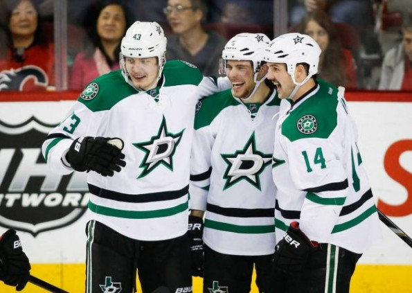 tyler seguin four goals vs flames