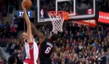 LeBron James Gets Posterized by Jonas Valanciunas (Video)