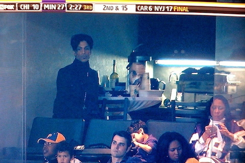 vikings fan prince in luxury box