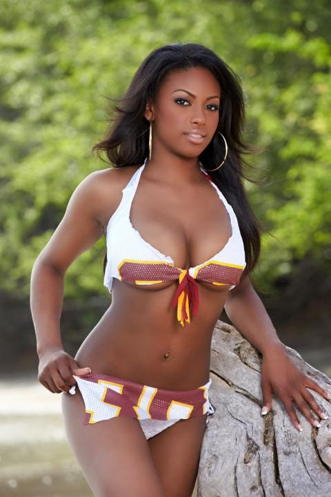 1 Washington Redskins Cheerleader Mila - hottest NFL cheerleaders 2013