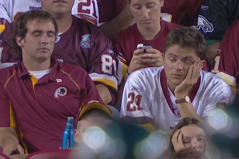 11 sad redskins fans - worst places to be a sports fan (worst sports cities) 2013