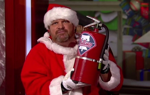 13 john kruk santa - athletes dressed as santa clause
