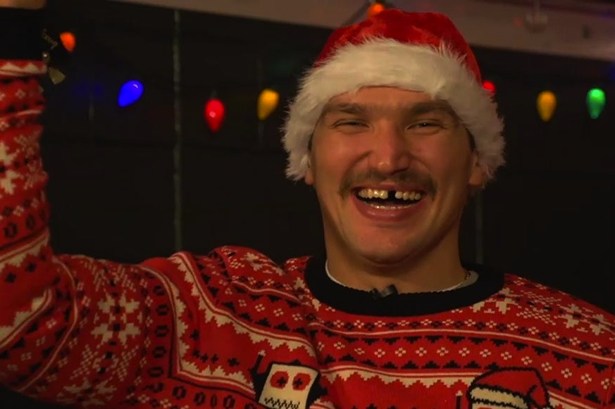 2 alex ovechking dressed as santa - athletes dressed as santa clause