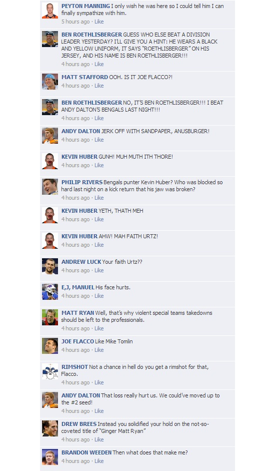NFL Quarterbacks Conversation on Facebook: Week 15 Round-Up   Total