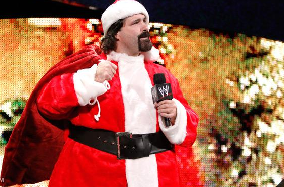 6 mick foley santa - athletes dressed as santa