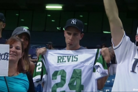 6 sad new york sports fan with yankees hat revis jersey - worst places to be a sports fan (worst sports cities) 2013
