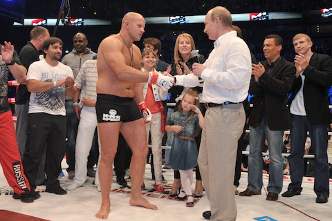 8 fedor emelianenko shaking hands with putin - richest mma fighters