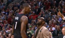 LeBron James Freaks Out Following Chris Bosh's Game-Winning Three-Pointer vs. the Blazers (Video)