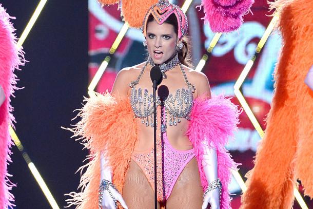 Danica Patrick showgirl costume