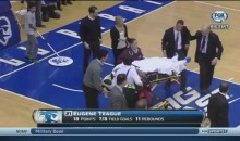 Seton Hall's Gene Teague Suffers Scary Concussion (Video)