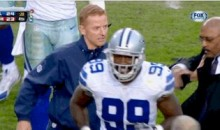 Cowboys Coach Jason Garrett Shoves Security Director After Game (GIF)
