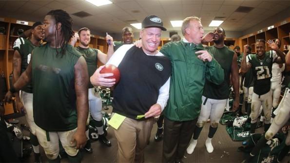 Jets Celebrating Rex Ryan's Return