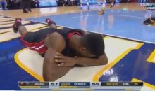 Heat's Norris Cole Falls and Smashes His Face on the Court (Video)