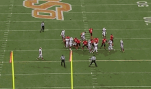 Oklahoma State Scores Field Goal During Earthquake (GIF)