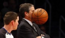 Wizards coach Randy Wittman Takes Ball to the Face (Photo)