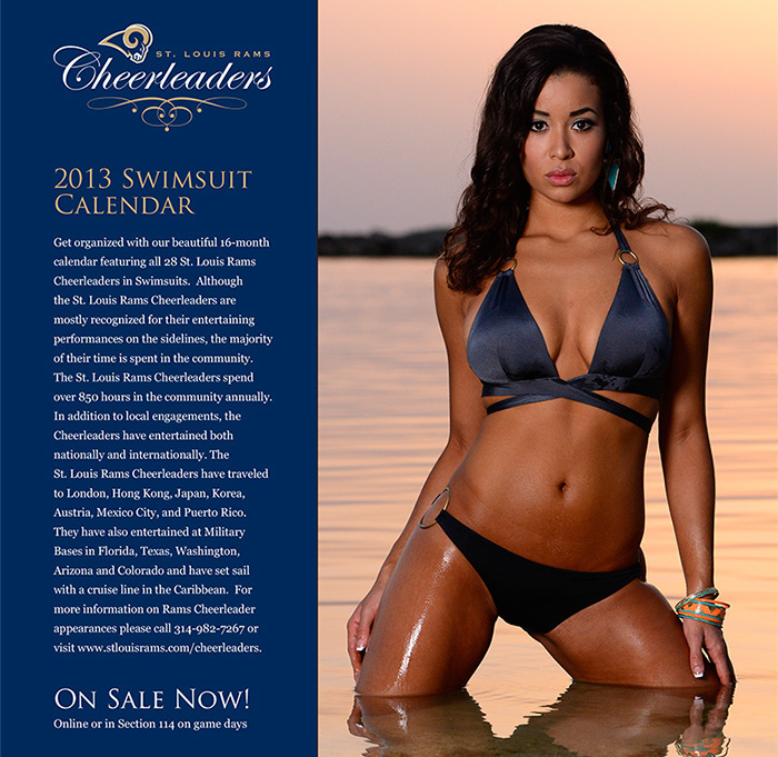 St. Louis rams cheerleaders swimsuit calendar - nfl cheerleaders calendars 2014